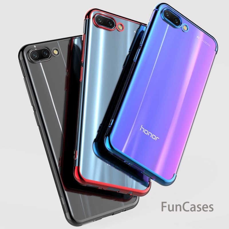 For Huawei mate 20 lite Nova 3i 2 Funda Transparent Plating Soft TPU Phone Case Honor 8X 7X 9 10 lite Cover Silicone thin Case