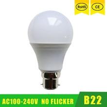 Светодиодный ламповый светильник b22 100 в-240 в, умная IC реальная мощность 3 Вт 6 Вт 9 Вт 12 Вт 15 Вт 18 Вт 21 Вт, светодиодный светильник высокой яркост...