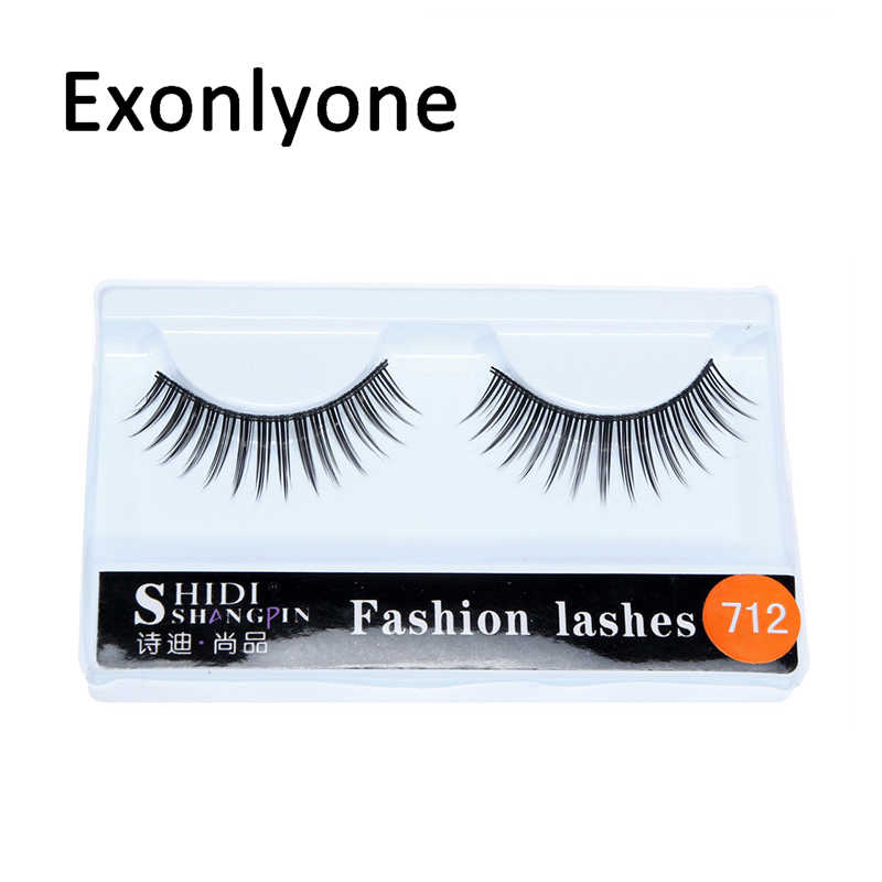 548c0c96871 1 Pairs Natural False Eyelashes Thick Makeup Real 3D Mink Lashes soft Eyelash  Extension Fake Eye