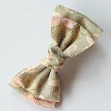 4.7in Floral Printing Hair Bows For Girls Korean Style Two Layers Bow Hair Clips Hair Accessories For Women
