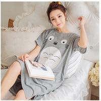 2018 New summer style Cotton Nightgown cartoon Nightdress pijama Ladies Sleepwear Women nightwear AW8269