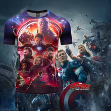 High Quality 3D Short Sleeve TShirt Men With Marvel Avengers Endgame American Captain Iron Man Spider Fitness Bodybuilding