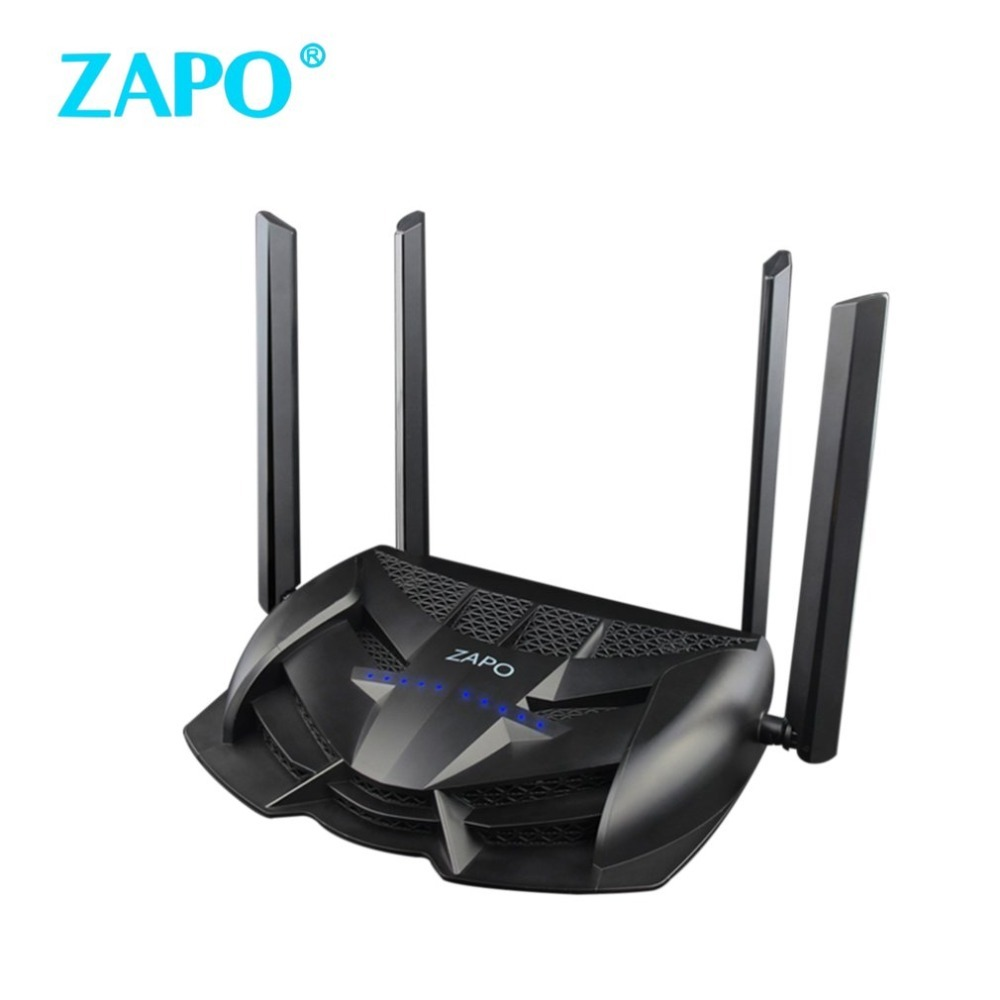 ZAPO 1200M Dual Bands Wireless Game Router Wireless Wifi Repeater Wireless AC Roteador Repetidor Rotate Aerial Repeater Dropship tp link wifi router wdr6500 gigabit wi fi repeater 1300mbs 11ac dual band wireless 2 4ghz 5ghz 802 11ac