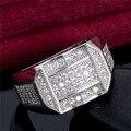 Стерлингового Серебра 925 Кольцо для Мужчин Старинные Ювелирные Изделия Кристалл Обручальные Кольца bague Joias Анель Masculino homme