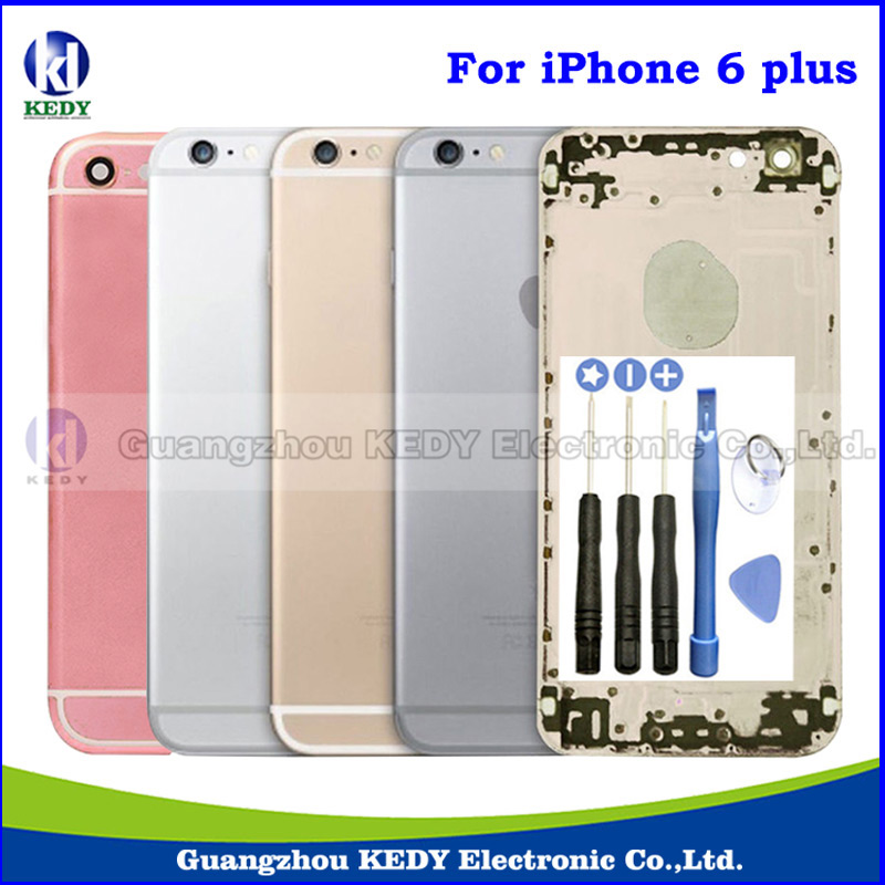 Original Metal Back Housing Cover Assembly for iPhone 6 plus 5 5 Back Rear Battery Door