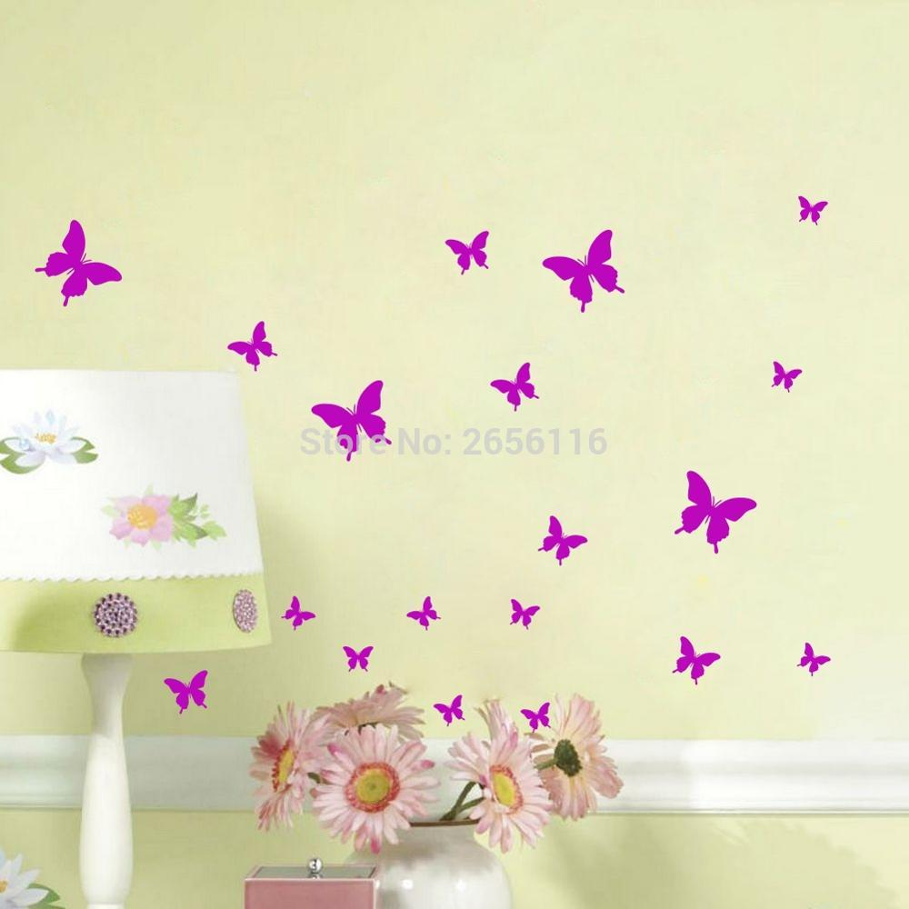 butterfly wall stickers diy wall decals vinyl mural wall decoration for bedroom living room. Black Bedroom Furniture Sets. Home Design Ideas