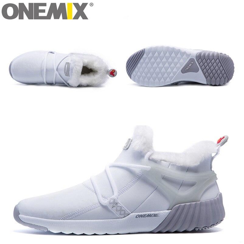ONEMIX Vandtæt Snow Boots Kvinder Sneaker Mænd Trainers Walking - Kondisko - Foto 5