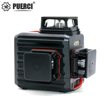 PUERCI 3D P12CG 12Lines Green Laser Level Self-Leveling 360 Horizontal And Vertical Cross Super Powerful Green Laser Beam Line 12lines 3d 93t laser level self leveling 360 horizontal and vertical cross super powerful green laser beam line used in outdoors