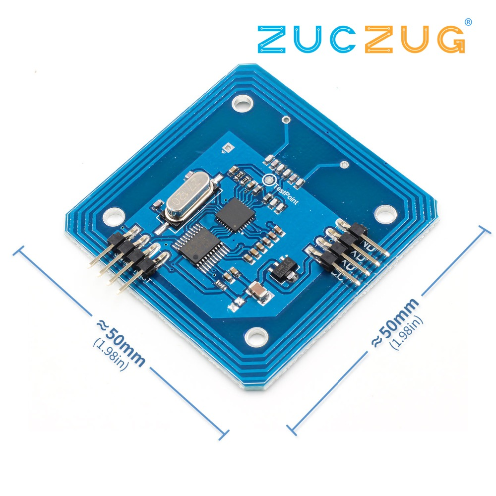 Arsmundi RC522 RFID Reader Module Serial 13.56mhz IC Card Reader MFRC522 RF moduleArsmundi RC522 RFID Reader Module Serial 13.56mhz IC Card Reader MFRC522 RF module