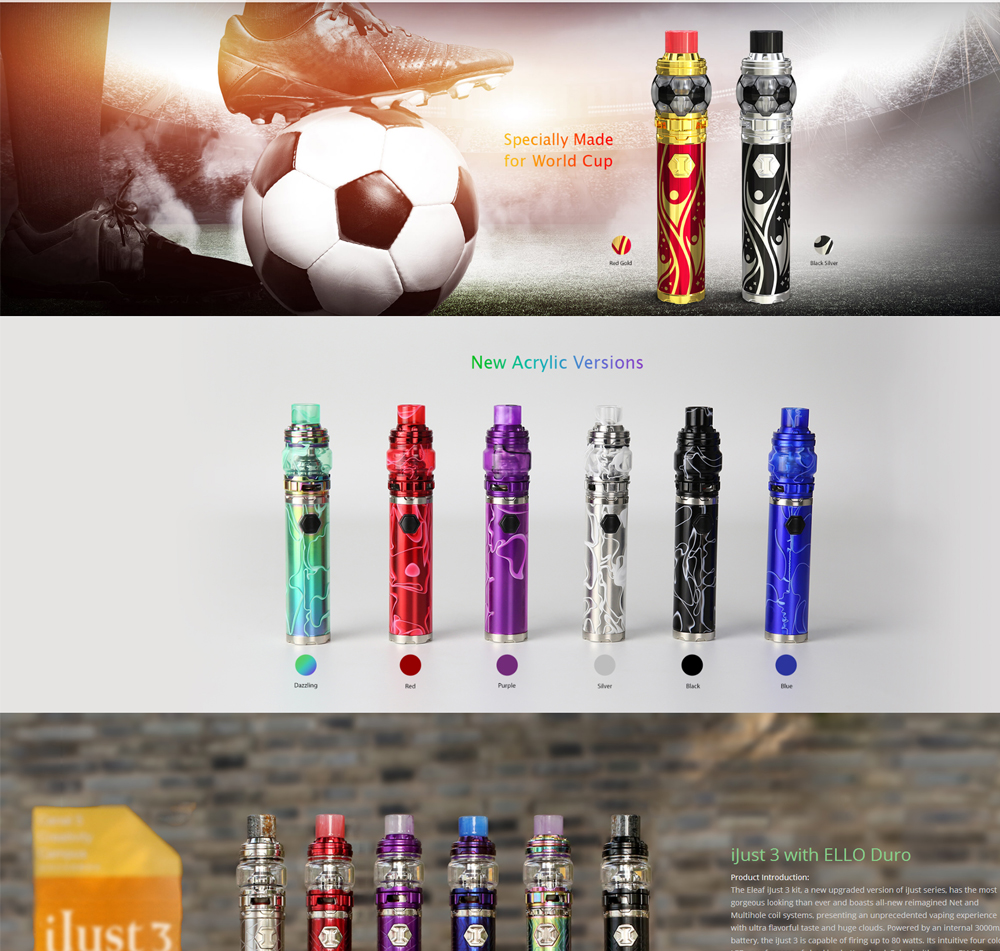 Electronic Cigarette Eleaf Ijust 3 Starter Kit I Just 3 Vape pen Vaporizer 3000mah with Ello Duro Atomizer VS SMOK Stick Prince (1)