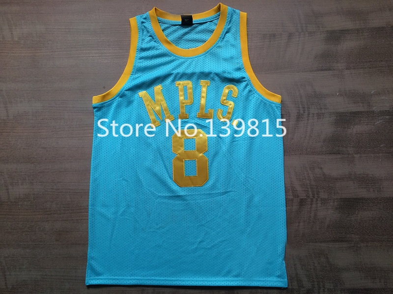 b699a2ed1fc 8 Kobe Bryant MPLS Light Blue Throwback Jersey