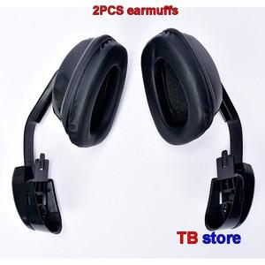 Image 4 - DELTA PLUS 103008 Hanging earmuffs profession Anti noise earmuffs ABS shell Memory foam cotton Safety helmet earmuffs