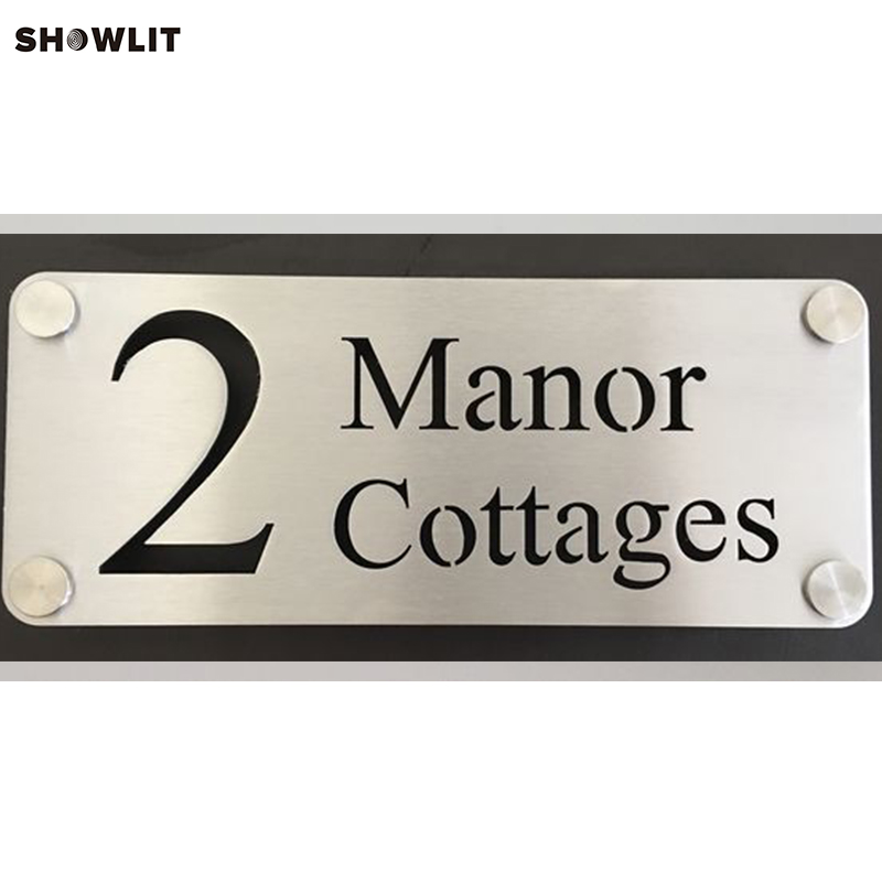 Personalised Street Name House Number Sign Plaque Laser CUT Stainless Steel custom acrylic frosted house sign modern number name plaque 200x140mm home