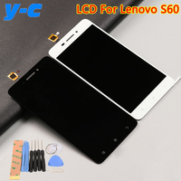 Lenovo S60 LCD Display Touch Screen 100 Original Digitizer Glass Panel For Lenovo S60W 1280X720 HD