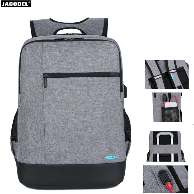Jacodel 17.3 17 15.6 15 inch Laptop Bag Anti Theft Backpack With Usb Charging School Notebook Bag Men Waterproof Travel Backpack 17 3 17 15 15 6 inch laptop bag anti theft backpack with usb charging school notebook bag men oxford waterproof travel backpack