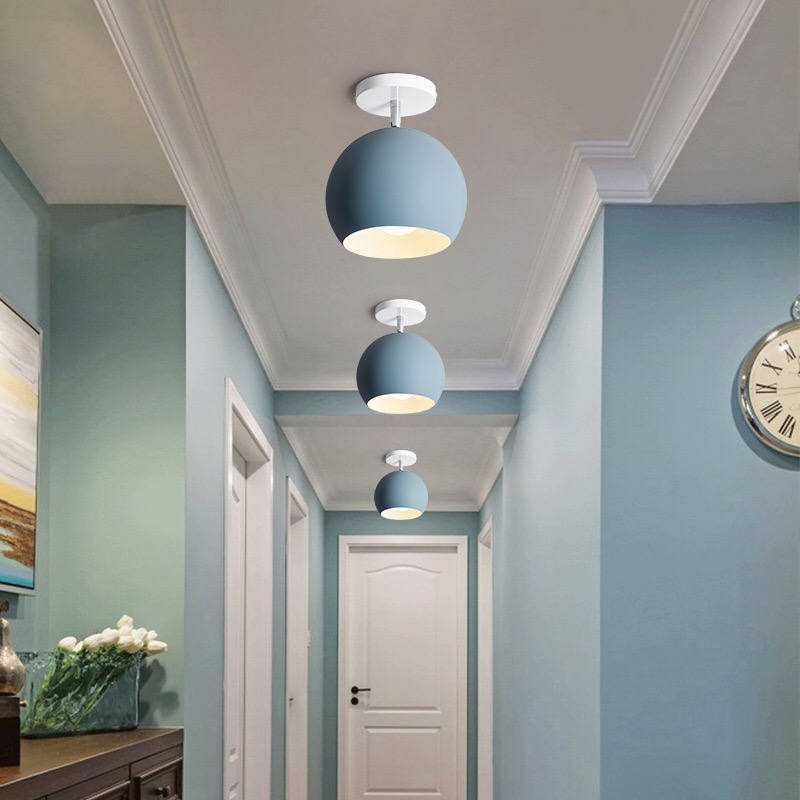 Free Shipping Nordic Style Colorful Aluminium Shade Wall Lamps Bedroom Living Room Dining Creative Lightings 5 Colors In Led Indoor
