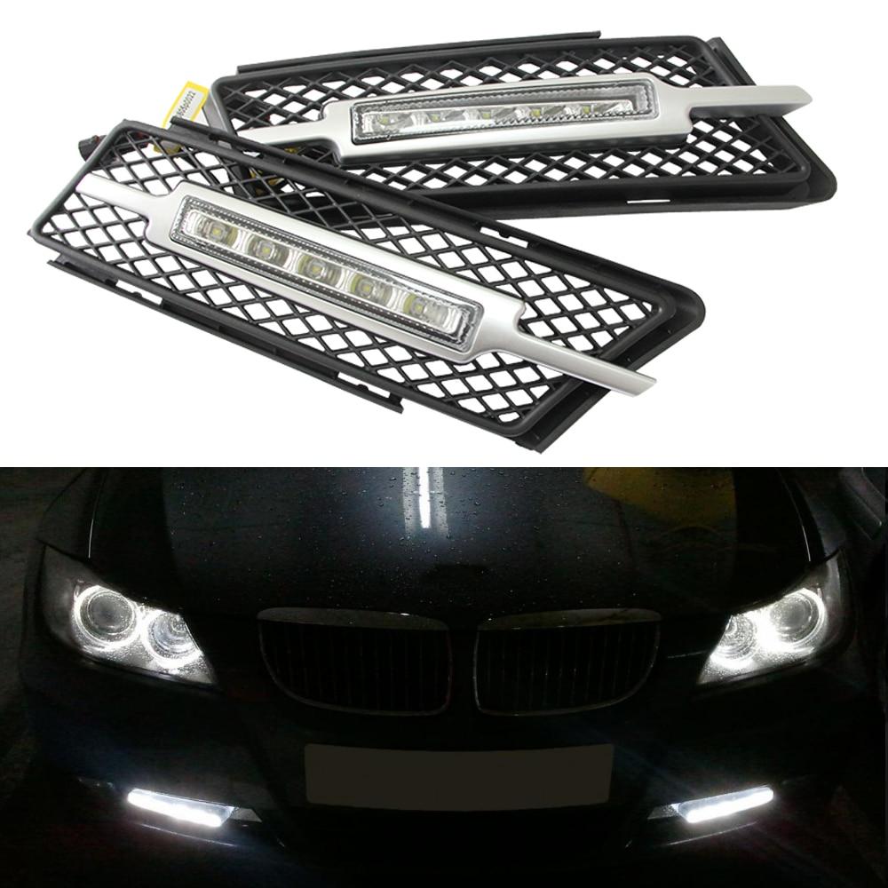 2017 Update E90 E91 10W LED Daytime Running Light dim on/off, 100% waterproof LED DRL Car Driving Lamp 12V White for BMW