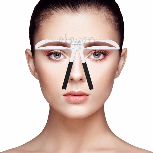 Diy Beauty Eyebrow Template Stencils Useful Easy To Use Eyebrow