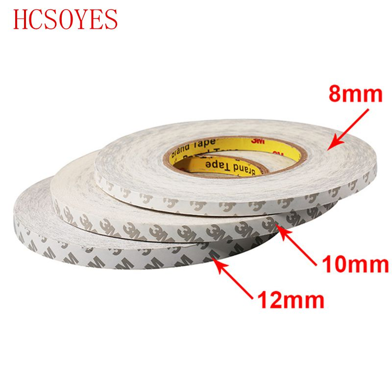 promo code 80789 191c9 US $3.65 20% OFF 50M/Roll 8mm 10mm 12mm 3M Adhesive Tape Double Sided Tape  for 3528 5050 ws2811 Led strips-in Connectors from Lights & Lighting on ...