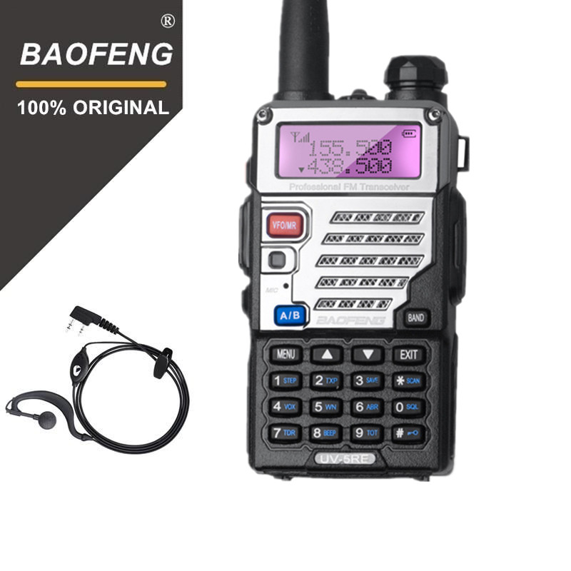 BaoFeng UV-5RE Talkie Walkie 10 km VHF/UHF136-174Mhz & 400-520 mhz BF-518 Dual Band Two Way Radio uv 5re Portable Émetteur-Récepteur Radio