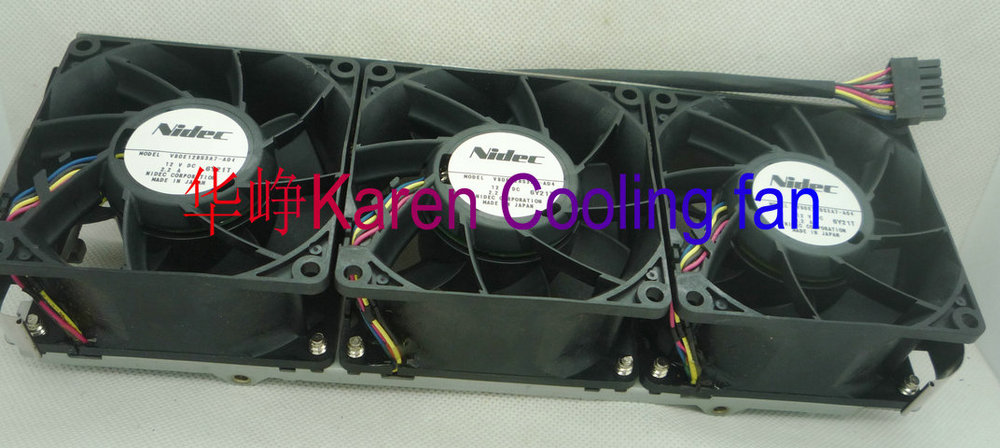 New Original for Nidec V80E12BS3A7-A04 8038 12V 2.2A 263-2497-01 Computer server cooling fan Group new original sanyo 9gl0812p1k05 12v 1 8a 80 80 38mm 8cm computer server cooling fan