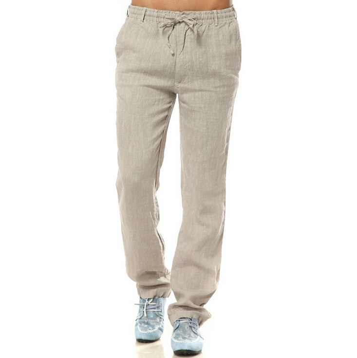 2015 Spring and Autumn Pure 100% Linen Men's Casual Pants ...