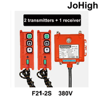 High Quality 2 transmitters + 1 receiver Wireless Industrial Remote Electric Hoist Remote Control For Winch / Sandblast Device