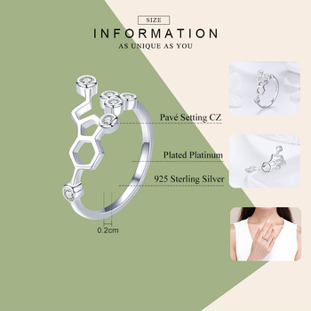 Adjustable Honeycomb CZ Ring1