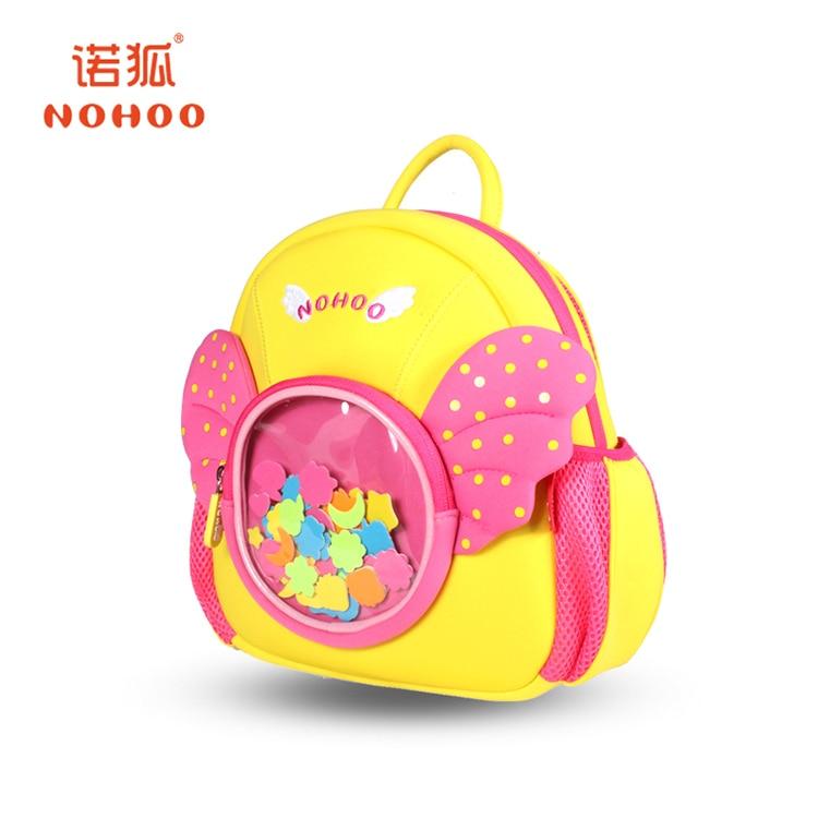 NOHOO 3D kids Bag for girls boys Children school bags cute waterproof  Backpacks school bags for girls mochila juventus schooltas