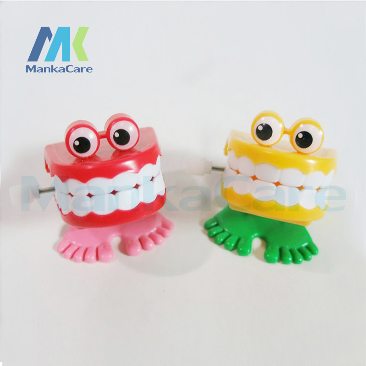 20 Pcs Children's Toys On The Chain / Chain Jumping Tooth / Strange New Toy /cute Playful Children's Plastic Toys Dental Gifts