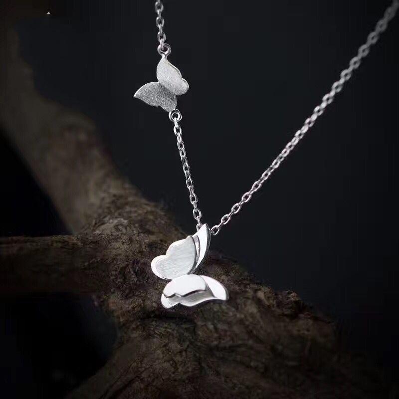 Shuangshuo Boho Jewellery Vintage Choker Necklace Long Chain Necklace Women Animal Butterfly Necklaces & Pendants bijoux femme