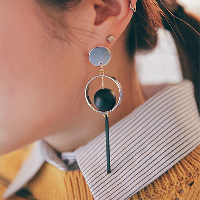 Long Earrings for Women Tassel Simulated Pearls Dangle Drop Statement Earring Fashion Jewelry