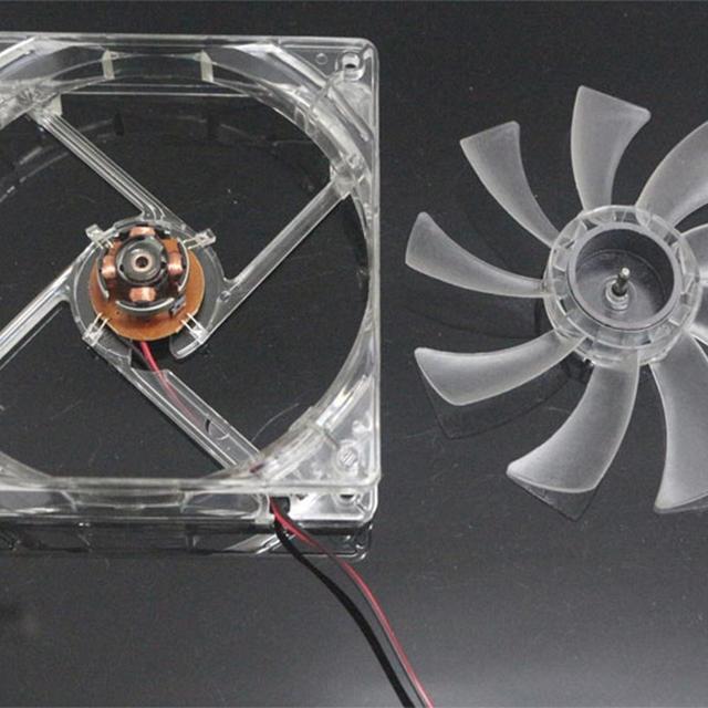 120x120x25mm ventilateur Installation facile Transparent 4 lumière LED en plastique PC ordinateur portable boîtier refroidissement ventilateur refroidisseur radiateur dispositif