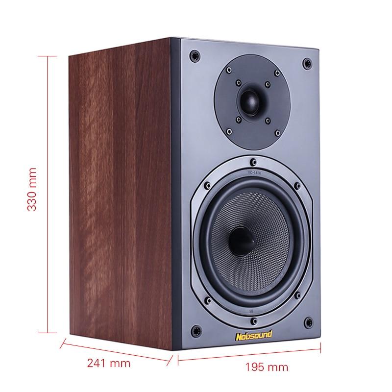 Nobsound NS 602 bidirectionnel bois 100 W 1 paire 6.5 pouces bibliothèque haut parleurs 2.0 HiFi colonne son maison haut parleur professionnel-in Haut-parleurs à poser from Electronique    2
