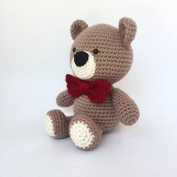 Crochet Toys  Amigurumi Teddy Bear With Tie-bow