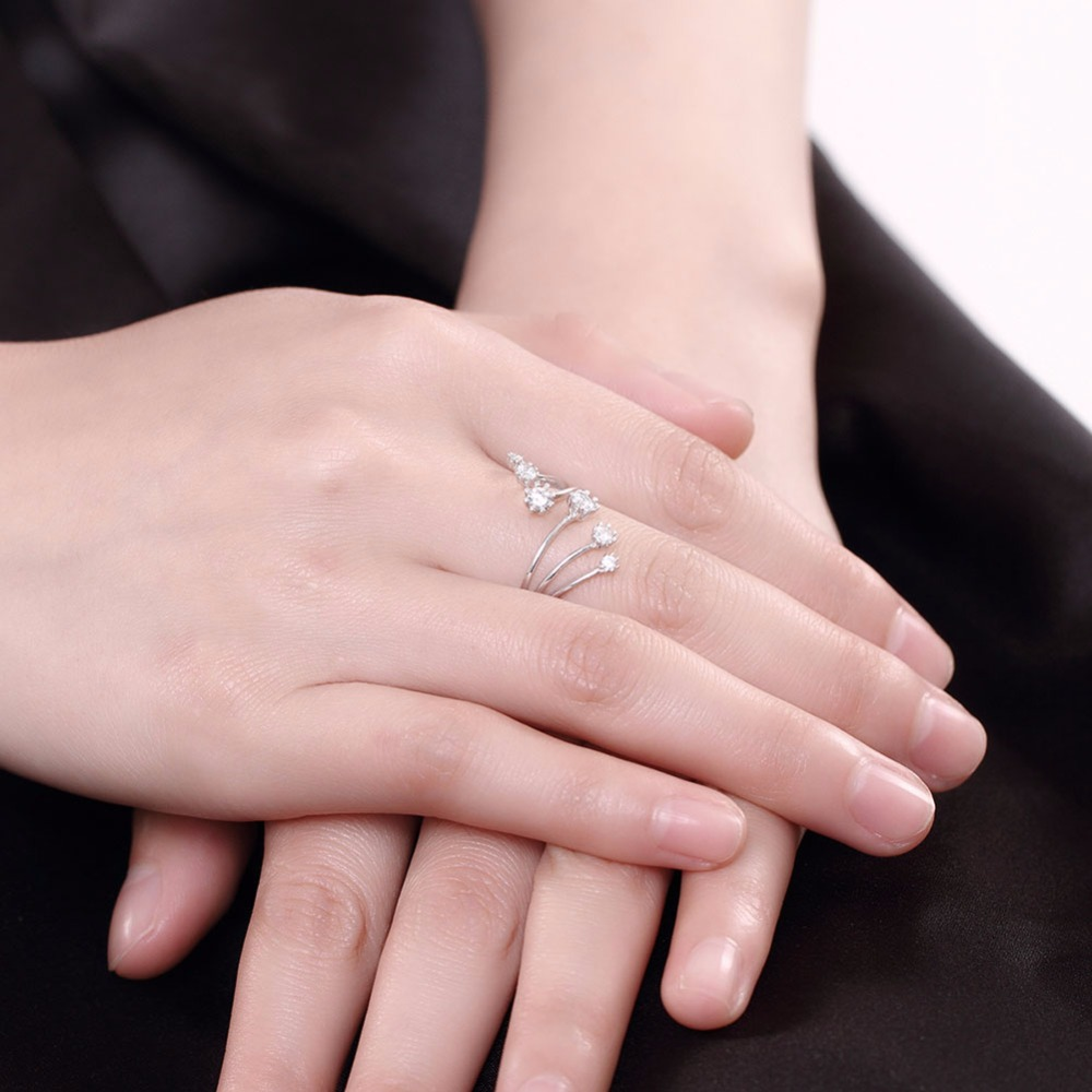 Women\'s stylish trendy opening adjustable 925 sterling silver Rings ...