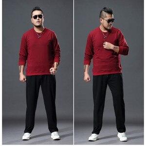 Image 4 - Mode grande taille pantalons de survêtement hommes droit décontracté noir bleu gris Sport pantalon grande taille 5XL 6XL 7XL hommes pantalons longs