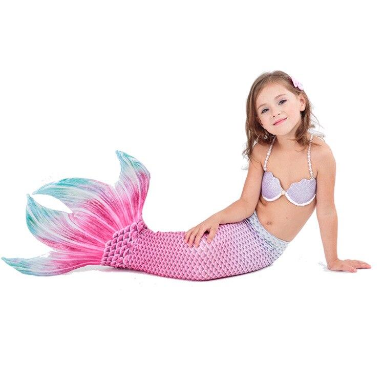 Pcs enfants sirène filles Costumes enfants natation sirène queue enfants sirène cosplay costumes pour fille