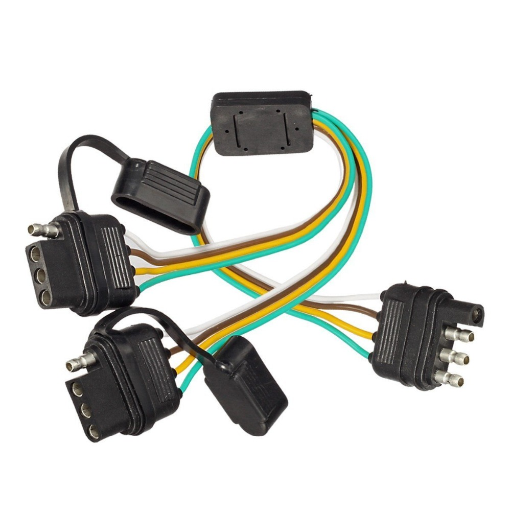hight resolution of lonleap trailer splitter 4 pin y split wiring harness adapter connector led light strip with led achterklep bar in cables adapters sockets from