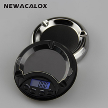 NEWACALOX 100g x 0.01g Digital Jewelry Scales for Gold Sterling Silver Ashtray Pocket Balance Electronic Scales 0.01