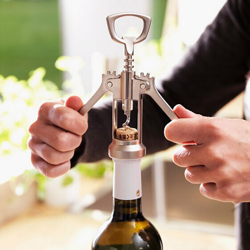 Image 4 - Seluna 1 pcs Portable Stainless Steel Red Wine Opener Wing Type Waiter Metal Wine Corkscrew Bottle Handle Openers Corkscrews-in Openers from Home & Garden