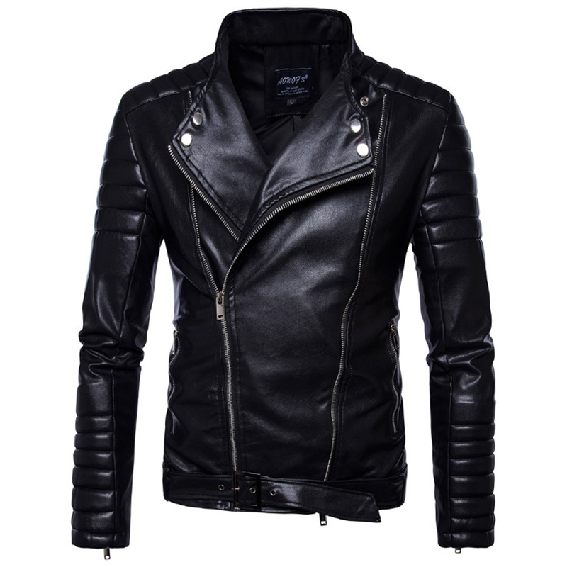 Classique noir moto en cuir veste hommes nouveau Style britannique multi-zipper veste décontracté cuir casual Biker veste mâle manteau 5XL