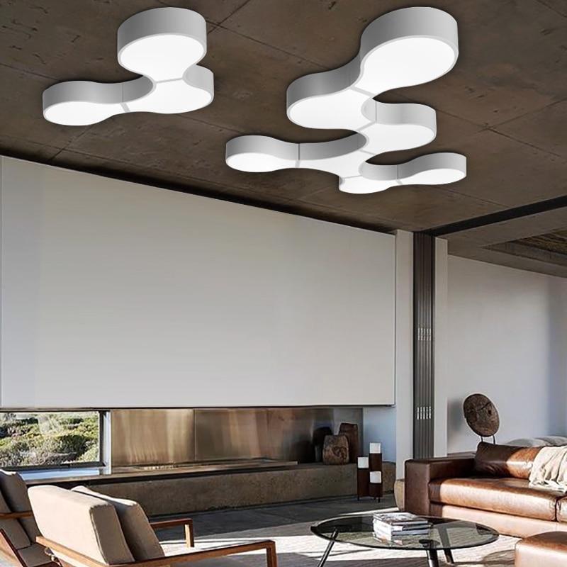 все цены на Modern Led Ceiling Lights For Indoor Lighting plafon led Cells shape Ceiling Lamp Fixture For Living Room Bedroom luminaria teto