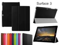 New 3 Folder Ultra Thin Slim Magnetic Folio Stand Sleeve Leather Case Smart Cover For Microsoft
