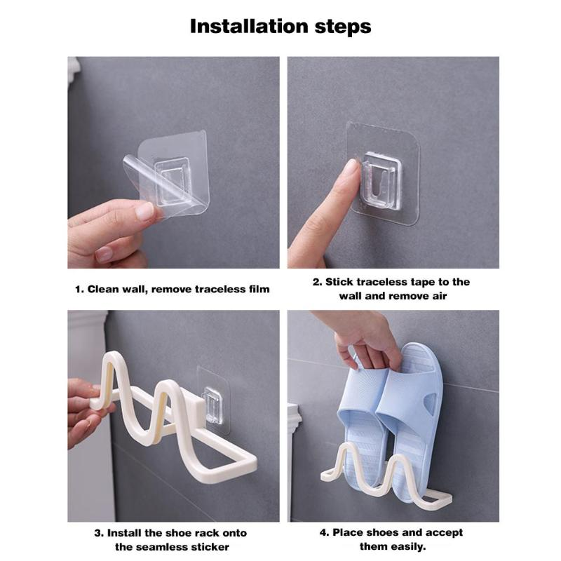 Wall Mounted Hanging Shoe Organizer used to Hang All Types of Shoes and Slippers to Save Space 3