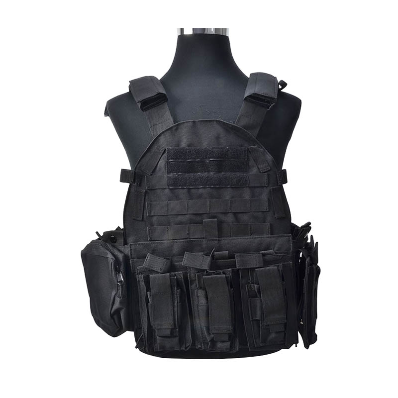 TACTIFANS Airsoft Tactical Military Molle Combat Assault Plate Carrier Vest Hunting Vest Chest Protective Plate Carrier Vest
