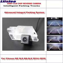 Liislee Original Style Back Up Rear Camera For Citroen DS 5LS DS-5LS 2014~2016 view Parking / Dynamic Guidance Tragectory
