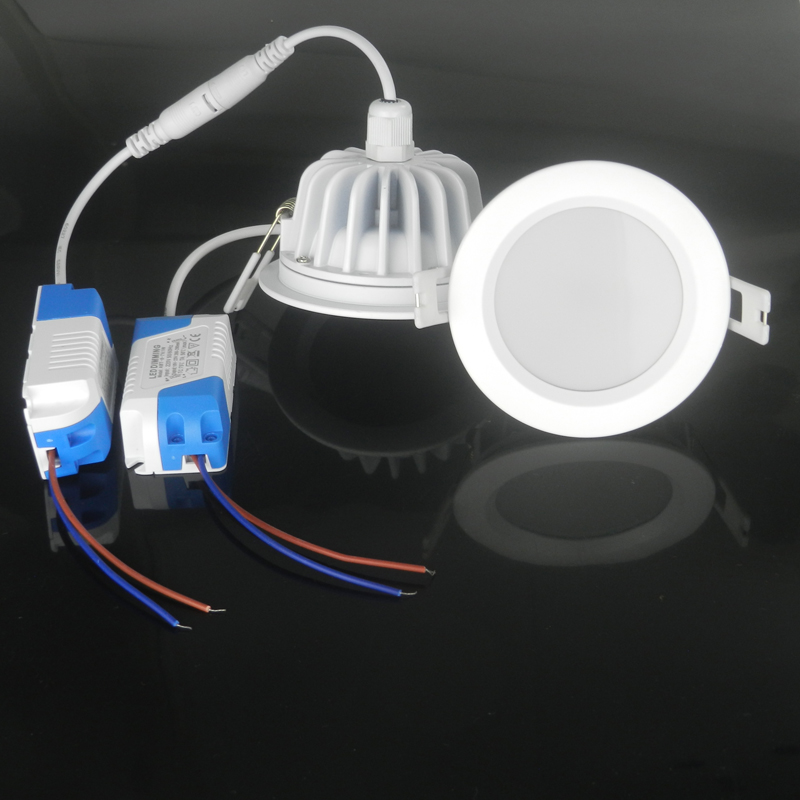 Hermético luz 9 W 10 W 12 W 15 W resistencia al agua IP65 dimmable led downlight redondo