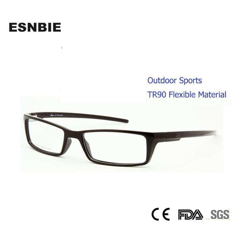 ESNBIE Fashion Glasses Frame Men Blue Brown TR90 Flexible Mens Eyeglasses Frames Oculos De Grau Prescription Eyewear