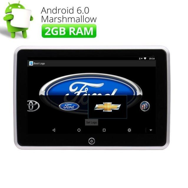 "10.1"" Quad Core Android 6.0 HD 1080P Touch Screen Car Headrest Monitor HDMI USB/SD/FM Support Video Game WIFI Rear-Seat Headrest"